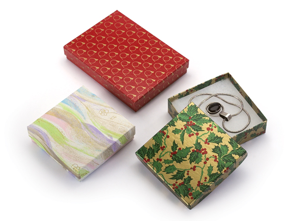 Design Series Cotton Filled Jewelry Boxes