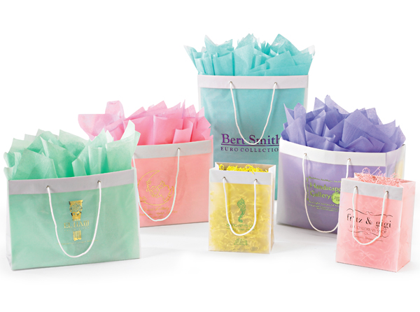 Frosted High Density European Shopping Bags