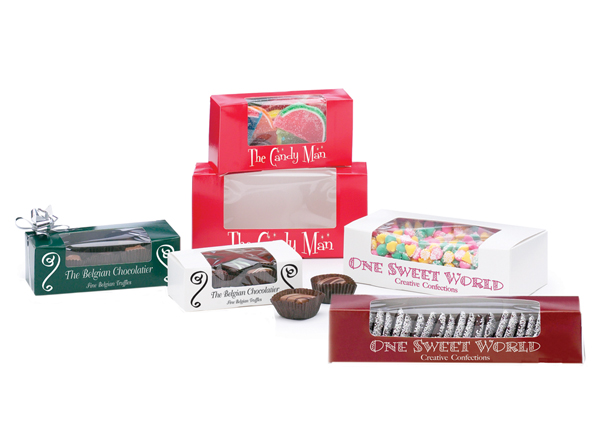 Windowed One Piece Automatic Candy Boxes