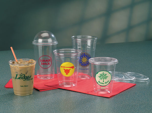 Clear Plastic Cups with Lids