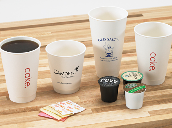 White Insulated Paper Cups with Lids