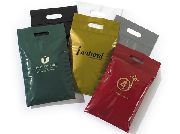 Die Cut Handle Plastic Bags with Zip Lock Closure